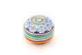 Colorful pill box Royalty Free Stock Images