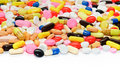 Colorful pills group of on white background Royalty Free Stock Image