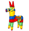 Colorful pinata isolated illustration white background Royalty Free Stock Images
