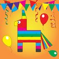 Colorful pinata. Mexcian traditional birthday toy