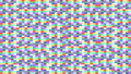 Colorful Pixel Background of Rectangles Changing Colors in a Loop