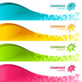 Colorful Pixel Banners Royalty Free Stock Photos