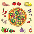 Colorful Pizza Royalty Free Stock Photography