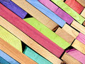 Colorful Planks Stock Image