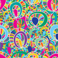 Colorful plant fabric seamless pattern