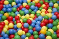 Colorful plastic balls in a playground for children Royalty Free Stock Photo