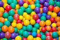 Colorful plastic balls in a pool Stock Photo