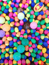 Colorful plastic balls in the pool background Stock Photos
