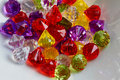 Colorful plastic beads macro Royalty Free Stock Photo