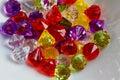 Colorful plastic beads macro Royalty Free Stock Photo