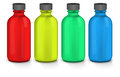 Colorful plastic bottles Royalty Free Stock Photo
