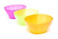 Colorful plastic bowl dish wear on white background Royalty Free Stock Photo