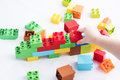 Colorful plastic bricks Royalty Free Stock Photo