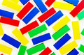 Colorful Plastic Bricks Toys for children Royalty Free Stock Photo