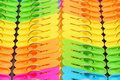 Colorful plastic clothespin of as background Stock Images