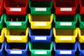 Colorful plastic containers Stock Images