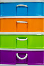 Colorful of plastic drawer Royalty Free Stock Photo