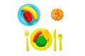 Colorful Plastic Food
