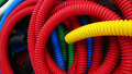 Colorful plastic pipes Royalty Free Stock Photo
