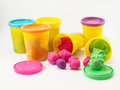 Colorful play dough Royalty Free Stock Photo
