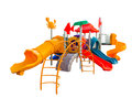 Colorful playground for children on white background Stock Images