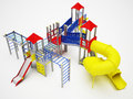 Colorful playground for children on white background Stock Photos