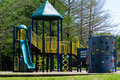 Colorful playground at a park Royalty Free Stock Images