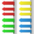 Colorful pointing arrows Stock Image