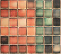 Colorful Polaroid Composition, Red, Green, Blue. Royalty Free Stock Photo