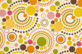 Colorful polka dot fabric closeup of design Royalty Free Stock Images