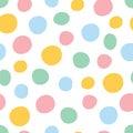 Colorful polka dot seamless pattern