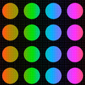 Colorful polka dots background Royalty Free Stock Photography