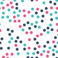 Colorful polka dots seamless pattern on black 19.