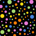 Colorful polka dots seamless pattern on black 2.