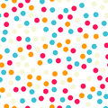 Colorful polka dots seamless pattern on black 18.