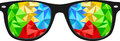 Colorful polygon nerd glasses illustration of nerdy with lenses Royalty Free Stock Photo