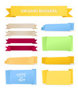 Colorful polygonal origami ribbons Royalty Free Stock Photo