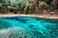 Colorful Pool in Jiuzhaigou National Park,Sichuan China Royalty Free Stock Photo
