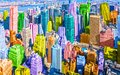 Colorful pop art styled New York City NYC Manhattan diverse diversity