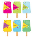 Colorful popsicle stick vector eps Stock Photography