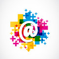 Colorful positive email design abstract background Stock Photo