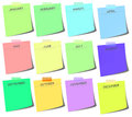 Colorful post it - calendar Royalty Free Stock Photo