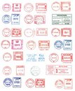 Colorful postmarks Royalty Free Stock Photo