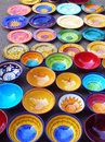 Colorful pottery handicrafts Royalty Free Stock Images