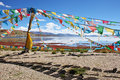 Colorful prayer flags Royalty Free Stock Images