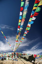 Colorful prayer flags Stock Image