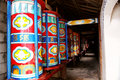 Colorful prayer wheel Stock Image