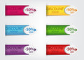 Colorful price tags illustration of on white background Royalty Free Stock Photo