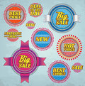 Colorful promo labels set of various elements eps Royalty Free Stock Photo