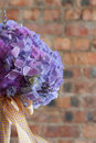 Colorful purple bridal bouquet Stock Photography